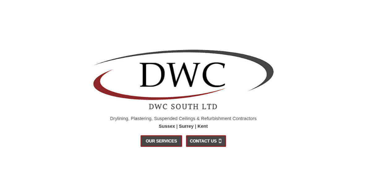Screenshot of the DWC website